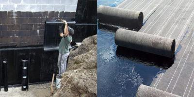 Вертикальная гидроизоляция фундамента рулонными материалами