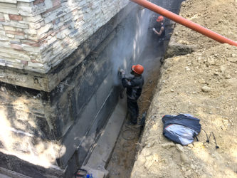 Гидроизоляция стен подвала снаружи