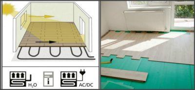 Как постелить ламинат на теплый бетонный пол?
