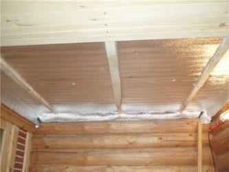 Каким материалом утеплить потолок в бане?