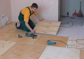 Как правильно постелить фанеру на деревянный пол?