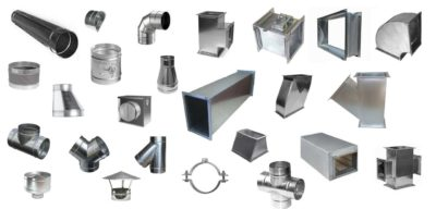 Типы воздуховодов для вентиляции